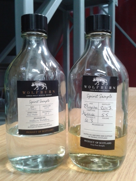 Wolfburn Distillery Bottles